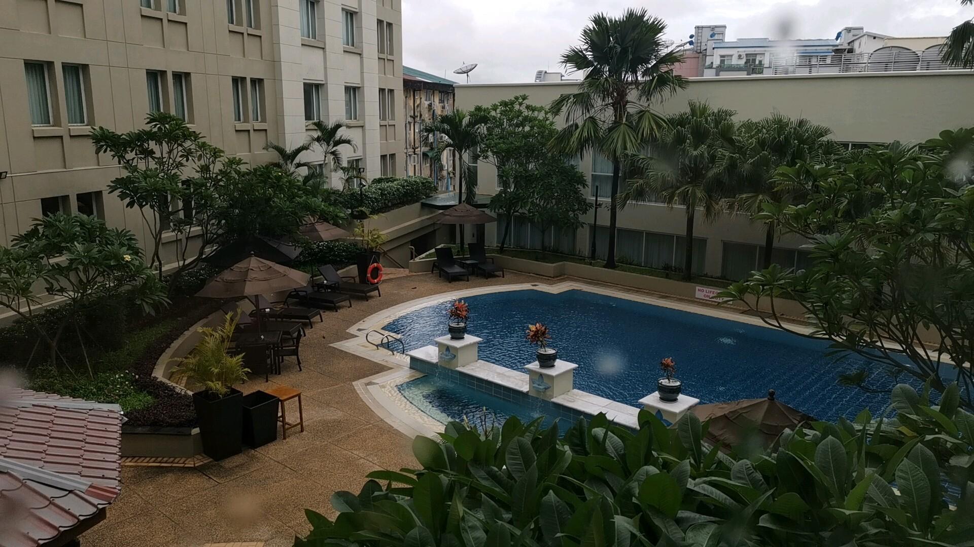 パークロイヤルヤンゴンの部屋からの眺め