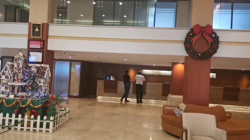 プラマサヌールビーチバリホテルのフロント