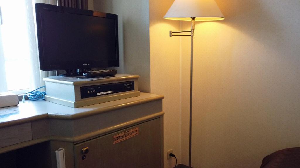 ホテルグリーンタワー幕張客室のテレビ